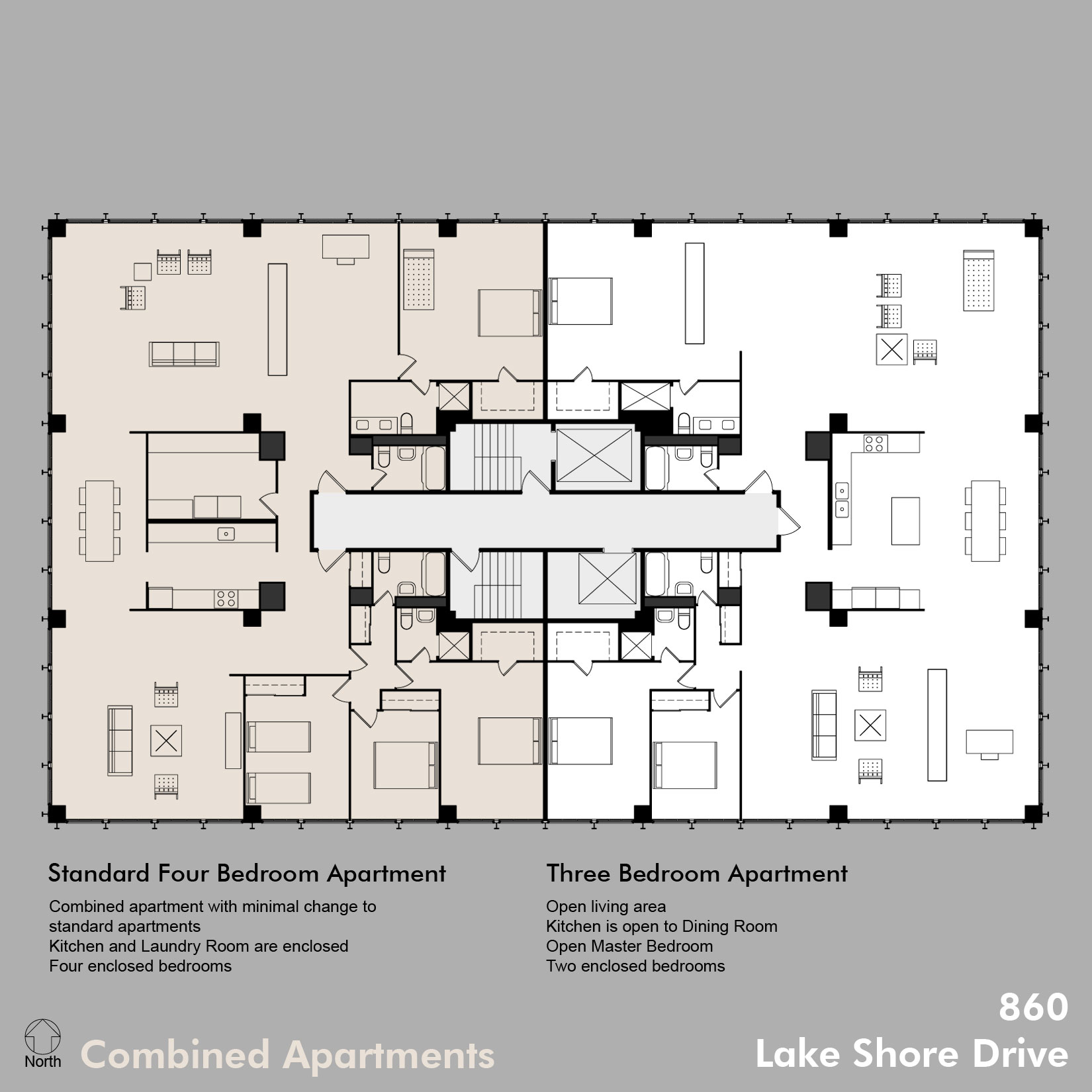 Dant diagram 3 860c for Apartments layout